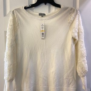 Joseph Allen Sweaters - Joseph A. Delicate lace sleeves Sweater- Small